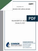 Distressed Unit Appeal Board transcript