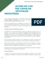 Clasificación de Los Diferentes Tipos de Normas Oficiales Mexicanas