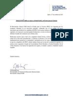 Comunicado de apoyo a Daniel Scioli y al FPLV