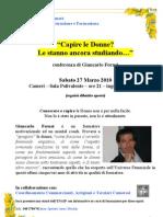 Conferenza a Cameri, Novara, Su Conoscere e Capire Le Donne - Giancarlo Fornei, Il Coach Delle Donne