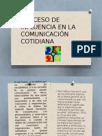 Proceso de Influencia en La Comunicación Cotidiana