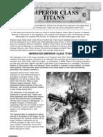 Warhammer 40k - Codex - Emperor Titans