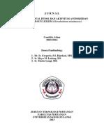 Penentuan Total Fenol Dan Aktivitas Antioksidan Ekstrak Daun Leilem