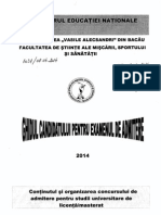 Ghid Admitere FSMSS 2014