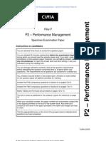 CIMA_P2_Performance Management_Specimen Papers_Qs_Nov_2009