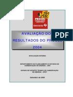 Avaliacao Dos Resultados Do Procel 2004