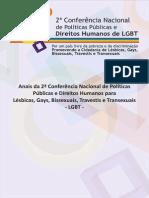 ANAIS DA 2ª CONFERÊNCIA NACIONAL DE POLÍTICAS PÚBLICAS E DIREITOS HUMANOS DE LGBT