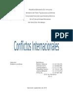 Conflictos internacionales