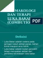 Farmakologi Dan Terapi Luka Bakar