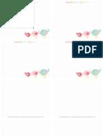 Spring Bird Trio Flat Note Cards