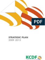 KCDF Strategic Plan 2009-2013
