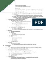 Antitussives & Decongestants Outline