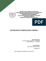 Trabajo - Tema 7 - Estabilidad e Inamovilidad Laboral
