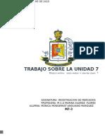 Investigacion de Mercados Unidad 7