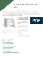 Esquematizar (Agrupar) Datos en Una Hoja de Cálculo - Excel