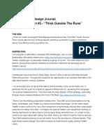 """Think Outside The Runs"" Design Journal"