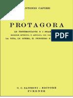 Protagora. Le Testimonianze Frammenti (1955)