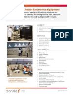 Certification Power Electronics Equipment TECNALIA En1
