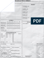 FATE RPG Character Sheet