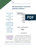 Propuesta de Protocolo de Monitoreo y Acompañamiento en Relación a Los Compromisos de Gestión