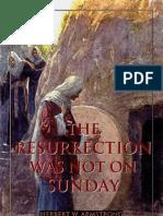 The Resurrection Was Not On SUNDAY