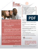 Defining ICT Strategy for Decision Makers of NGOs Workshop - Flyer