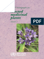WHO Monographs on Selected Medicinal Plants Vol 3