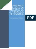 Monografía Rupturas y continuidades en el paso de la educación primaria a la secundaria