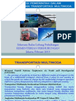 Government Strategy in Developing Multimodal Transportation
