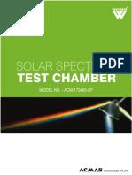 Solar Spectrum Test Chamber