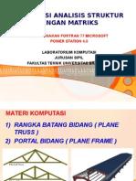 Analisa Struktur Dengan Matriks