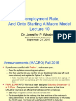 Unemployment Rate and onto starting a Macro Model