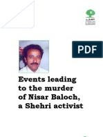 Events Leading to the Murder of Nisar Baloch a Shehri Activist1