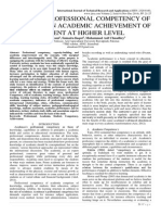 IMPACT OF PROFESSIONAL COMPETENCY OF ACADEMIA ON ACADEMIC ACHIEVEMENT OF STUDENT AT HIGHER LEVEL