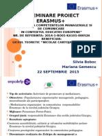 DISEMINARE PROIECT ERASMUS+