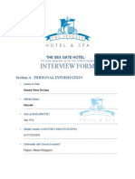 Template application form