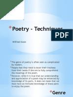 Owen Poetry - Techniques (1)