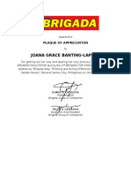 Plaque for Lapore