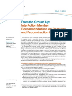 From the Ground Up-InterAction Member Recommendations on Recovery and Reconstruction in Haiti_1