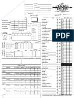 Dungeons & Dragons 3.5 Character Sheets
