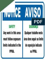 Aviso Segurança - Notice Safety