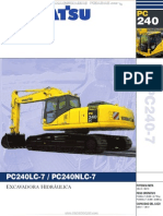 Catalogo Excavadoras Hidraulicas Pc240lc7 Nlc7 Komatsu