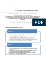 graphic organizer united states foreign policy during the  cold war  sample
