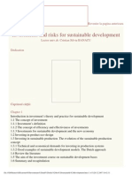 Investments and Risks for Sustainable Development_curs ASE
