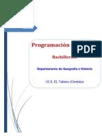 Programación didáctica de Bachillerato
