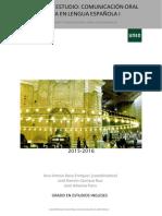 Guía de Estudio 2ª Parte Comunicación Oral I 2015-16