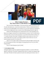 MMA Training Workouts – Top 9 Tips on How to Train Smarter, Not Harder