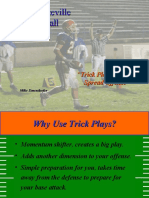 Trick Plays From Spread