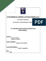 La Reeducacion Postura Global en La Kinesiologia