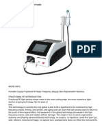 Portable Crystal Fractional Rf Radio Frequency Beauty Skin Rejuvenation Machine